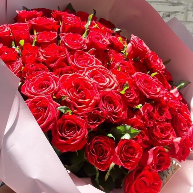 Букет  75 роз