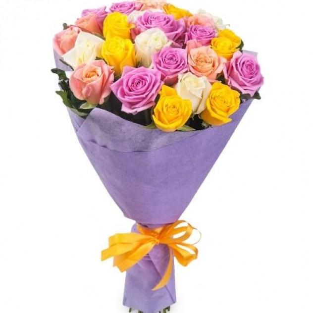 Букет 25 экзотических роз