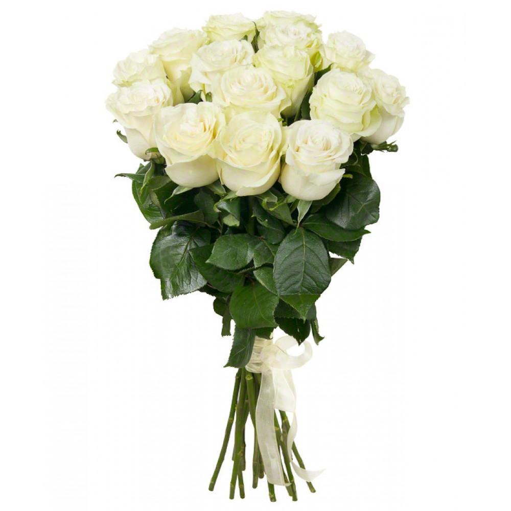 Букет из 15 белых роз премиум